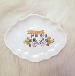 """Other - """"Enjoy the journey"""" jewelry trinket tray"""